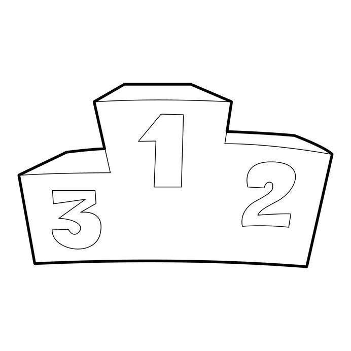 Illustration eines Podiums das die ersten drei Plätze der Vakuumierer Bestenliste anzeigt